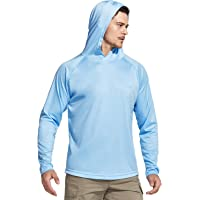 CQR Men's UPF 50+ Outdoor Long Sleeve Shirts, UV Sun Protection Loose-Fit Water T-Shirts, Performance Running Workout…