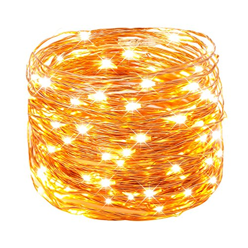 Weico LED String Lights, 66ft 200LEDs Waterproof Copper Wire Starry Lights for DIY, Outdoor, Bedroom, Patio, Garden, Gate, Party, Wedding, Barbecue (Warm White), Premium Quality (Outdoor Patio Bar Diy)