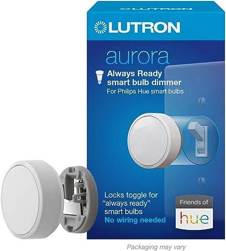 Lutron Z3-1BRL-WH-L0 Aurora Smart Bulb Dimmer, White