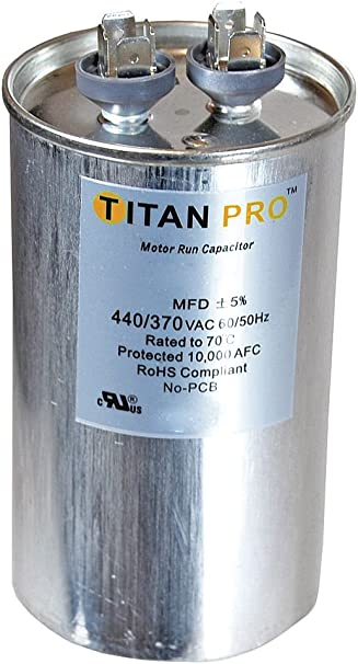 Titan TRCFD354 Dual Rated Motor Run Capacitor Round MFD 35//4 Volts 440//370