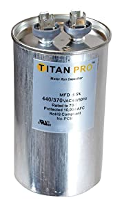 Titan TRCFD305 Dual Rated Motor Run Capacitor Round MFD 30/5 Volts 440/370