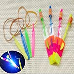 Gbell LED Light Up Flashing Dragonfly Glow for Party Toys, Rocket Copters,The Amazing Slingshot LED Helicopters