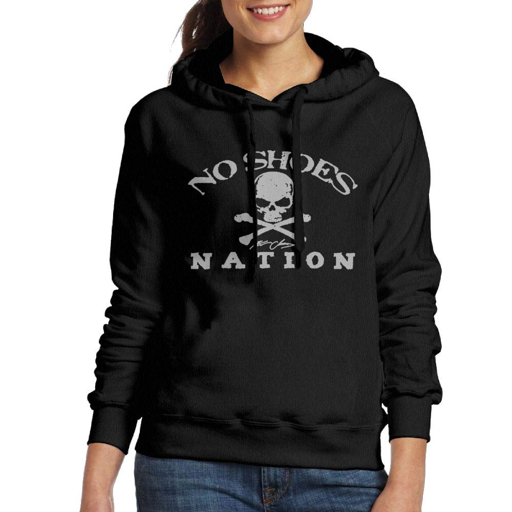 Exuaneroal Women Kenny Chesney No Shoes Nation Simple Style Black Fleeces M Long Sleeve