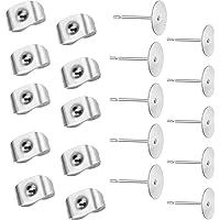 Pendientes de clip en Cristal Plata Rhinestone Oído falso postes no perforado Redondo #43