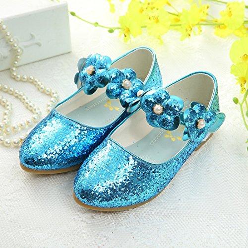 HBOS Prinzessin Schuhe Mädchen Asakuchi Blume Helle Schuhe Student Tanz Prinzessin Shoes Blau