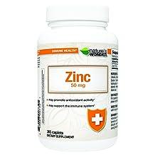 Nature's Wonder Zinc 50mg Tablets 365 Count