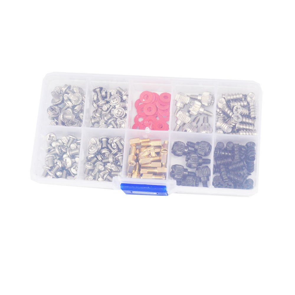 DANA FRED 227pcs Personal Computer Screws PC Standoff M3 M5 M6 Phillips Head Assortment Kit for Hard Drive Computer Case Motherboard fan power graphics by DANA FRED (Image #3)