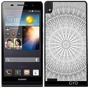 Funda para Huawei Ascend P6 - Mandala Gris by Nina Baydur
