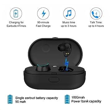 Arbily Mini Auricular Bluetooth 4.2 Control táctil In Ear Auriculares Inalámbricos con Microfono y Cancelación de