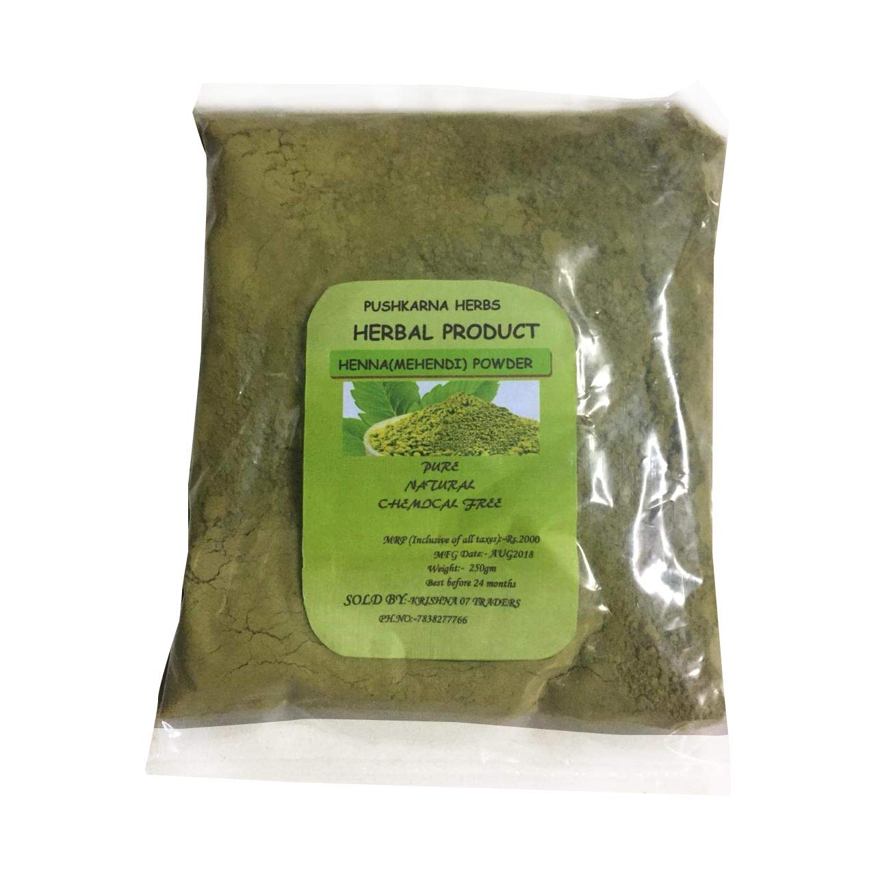 100% PURE HENNA HERBAL POWDER 250 gm product image