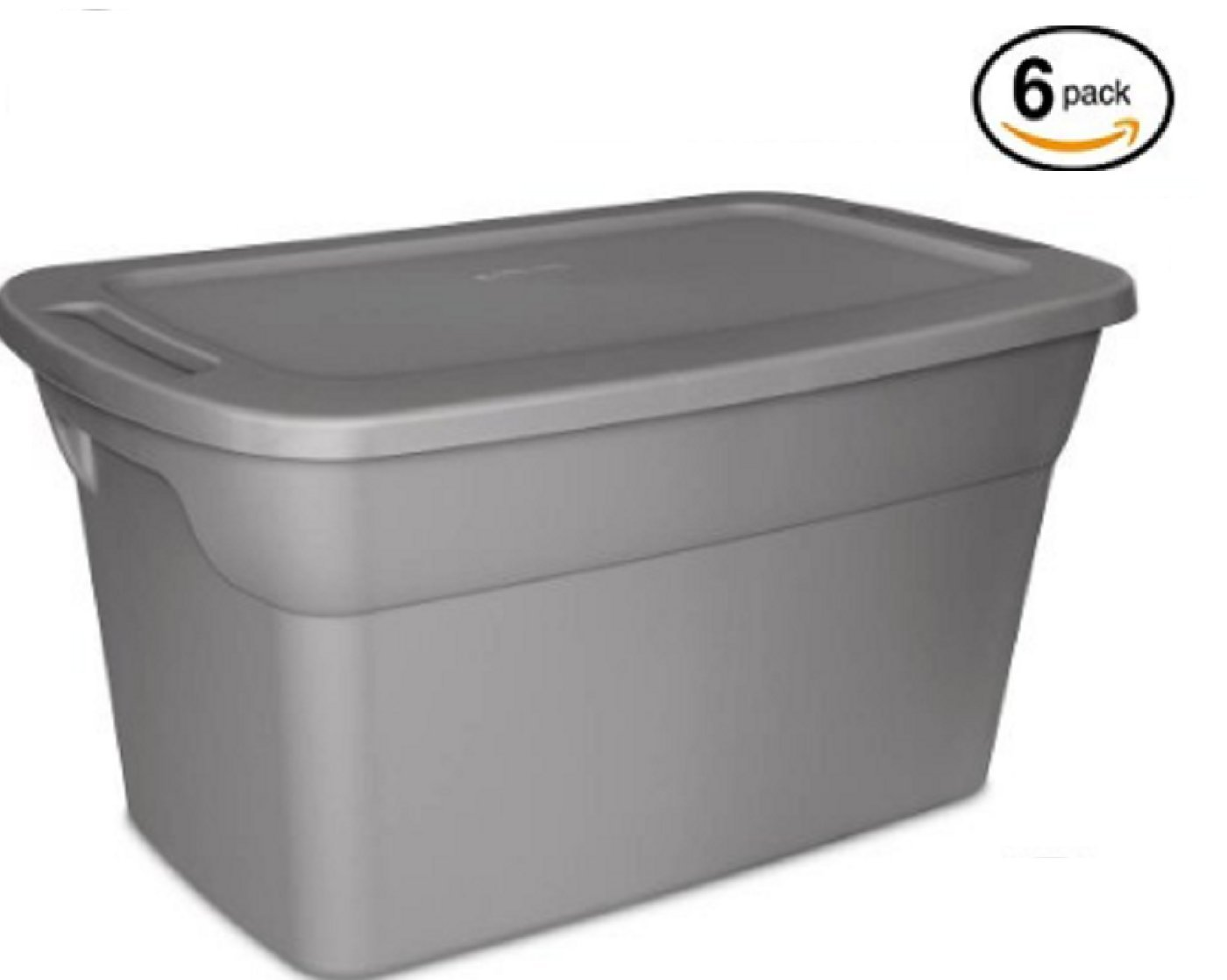 Sterilite 30 Gallon Tote Box- Steel- Case of 6 by STERILITE (Image #1)