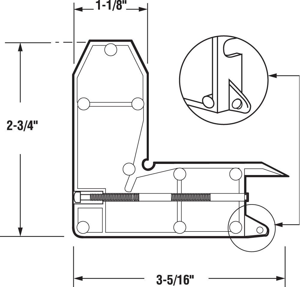 Slide-Co 11556 Screen Door Corner Insert with Screw, Diecast,(Pack of 2)