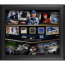 """Dale Earnhardt Jr. Framed 20"""" x 24"""" Career in Review Collage W/Race-Used Sheet Metal, Tire, and Fire Suit - Limited Edition of 288 - Fanatics Authentic Certified"""