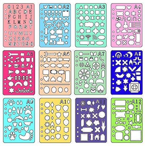 Lirener 12 Piezas Plantillas de Dibujo para Bullet Journal ...