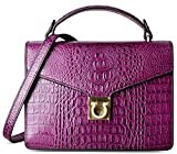 PIFUREN Crossbody Shoulder Purse Ladies Crocodile Handbags C68736(Purple)