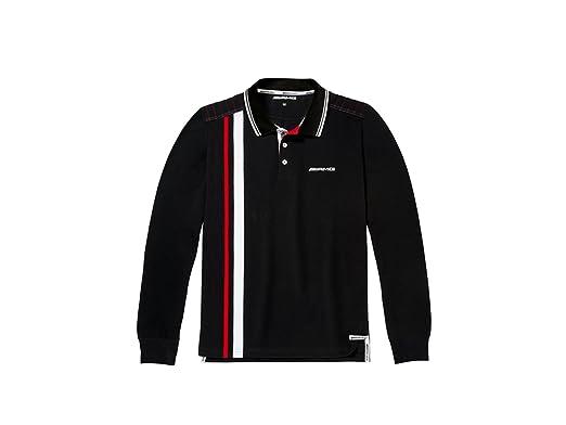 Mercedes-Benz - Camiseta de Manga Larga - para Hombre Negro/Blanco ...