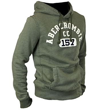58910e0d418 Abercrombie Men s Applique Logo Graphic Hoodie Fleece Sweatshirt Hoody