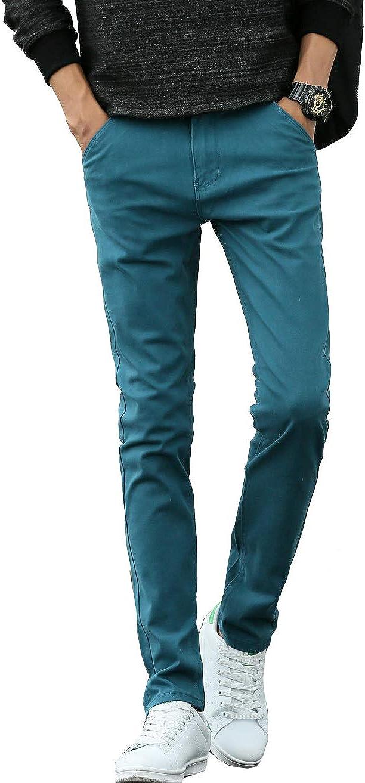 XUEYIER Men's Slim Fit Chinopants Casual Pants Stretch Colored Pants Cropped Chino Pants Stretchy Slacks Khaki Trousers