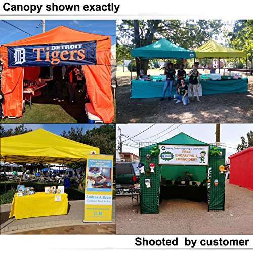 AbcCanopy 10 X 10 Ez Pop up Canopy Tent Commercial Instant Gazebos with 6 Removable Sides and Roller Bag and 4x Weight Bag