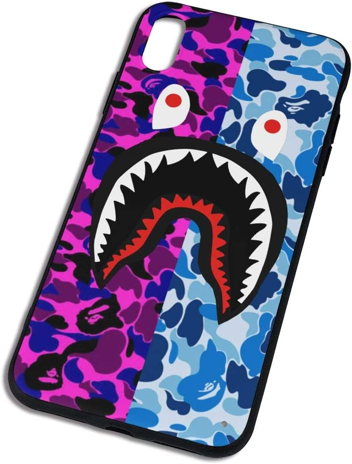Trikahan Bape Shark Teeth Hardshell Silicone Case for iPhone X/12/Xs Max/Xr with Matte Finish Hypebeast iPhone Case