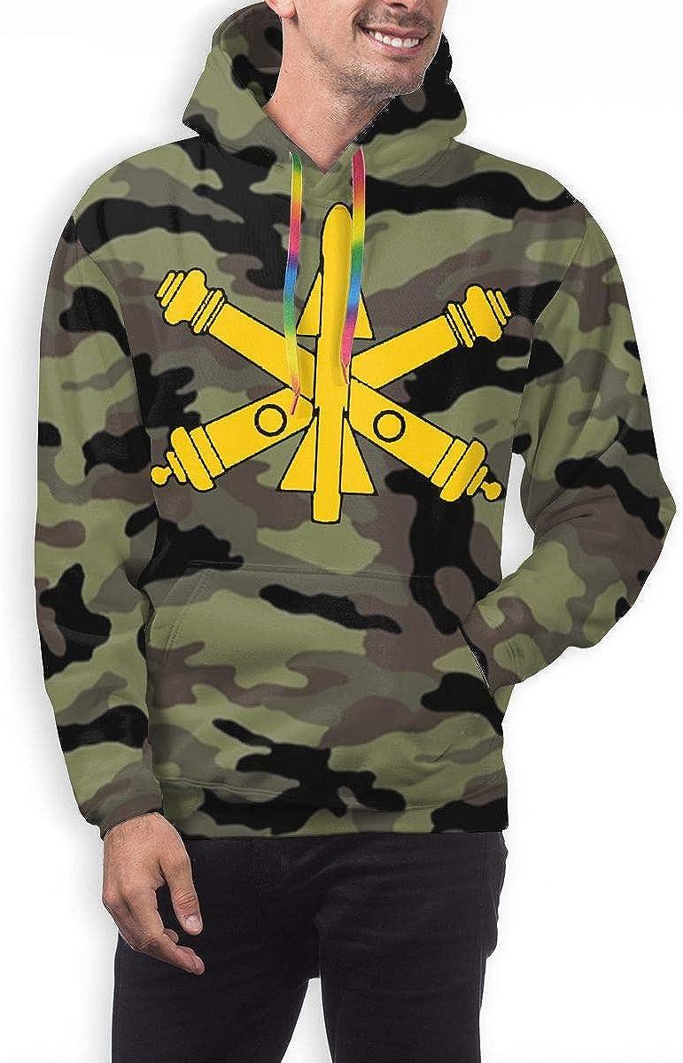 ZHONGHENJIUDIAN Army Camo Camouflage US Army Air Defense Artillery Branch Insignia Mens 3D Print Pullover Hoodie Sweatshirt