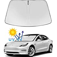 Tesla Model Y Model 3 Windshield Sunshade Folding Sun Visor Protector Sun Shade Cover 2021 Upgrade