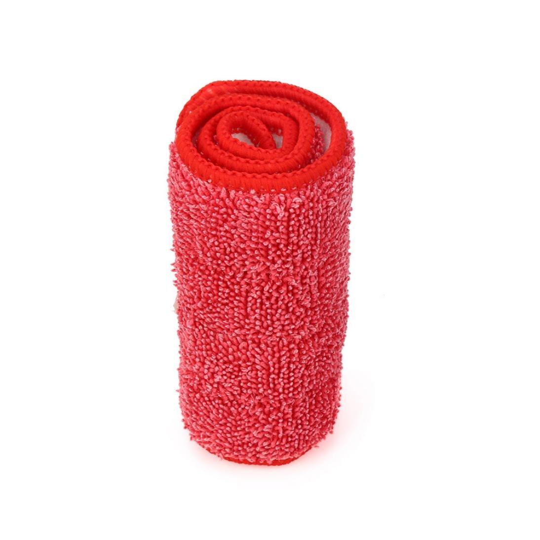 CYCTECH Replacement Microfiber Washable Spray Mop Dust Cloth Covers Mop Accessories Home Cleaning Tool (Red)