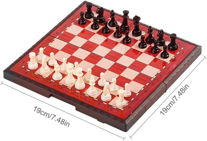 Ajedrez, Juego de ajedrez Plegable, Caja magnética de ajedrez portátil, Especial for Juegos, Regalos y Juegos de Mesa for Adultos y niños for niños (Color : B , Size : S) :