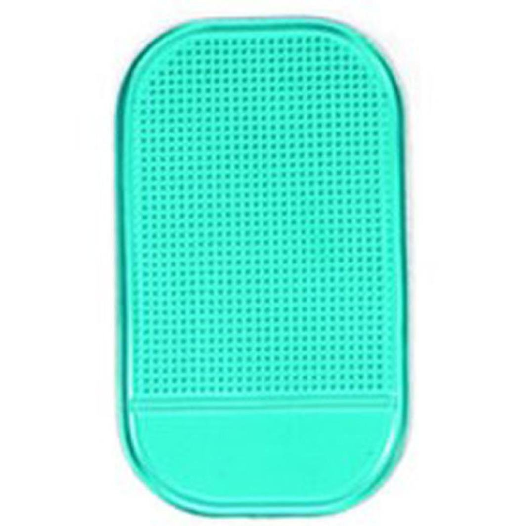 Chezaa Phone Mat,Washable Car Magic Anti-Slip Dashboard Sticky Pad Mat Holder for GPS Cell Phone (Green)