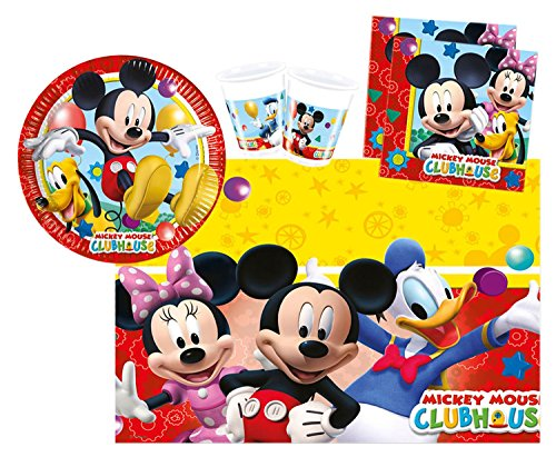 Procos 10108580B - Kinderpartyset - Disney Mickey Mouse - Playful Mickey, Größe S, 37-teilig
