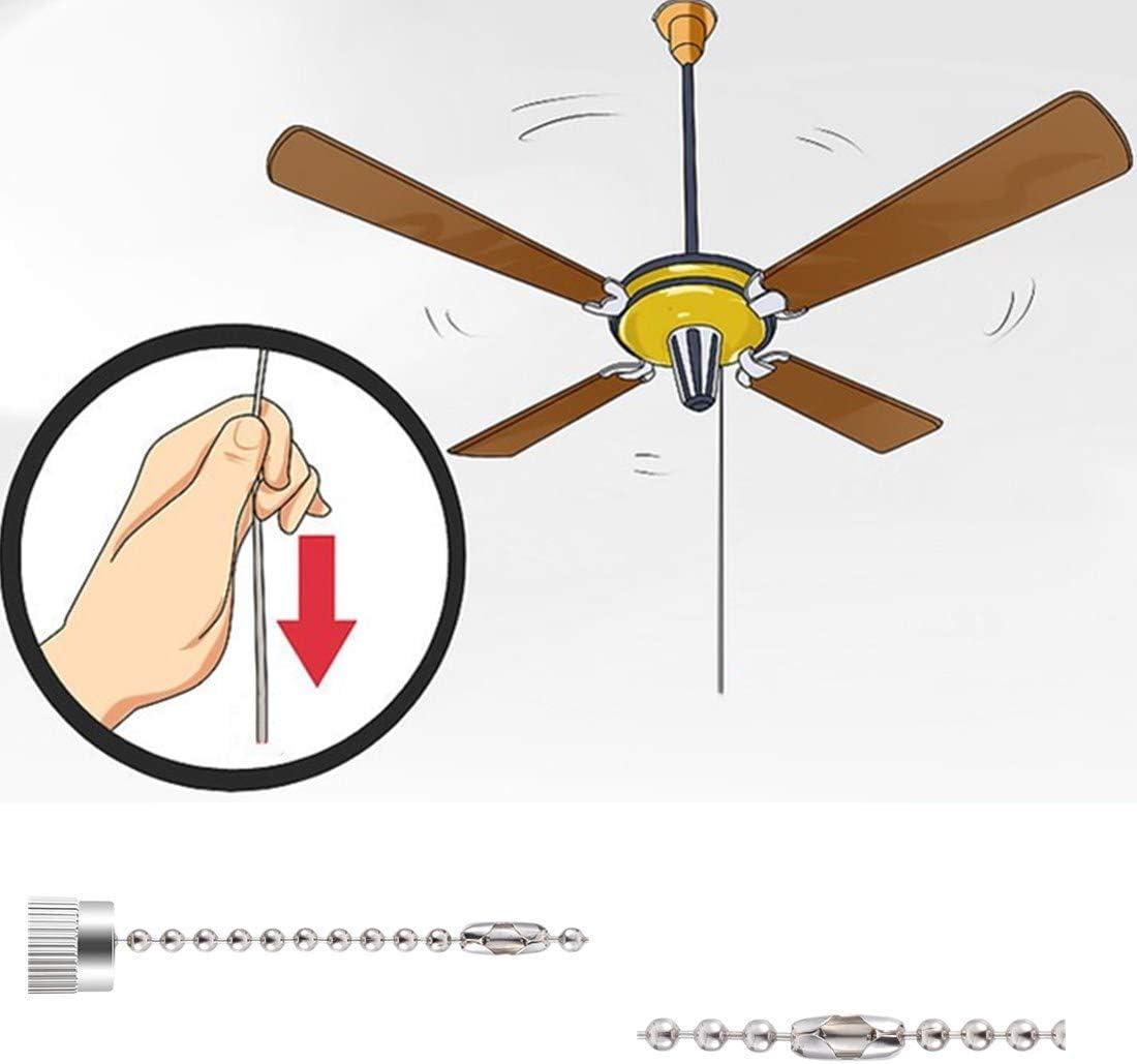 Qiaoyang - Interruptor de ventilador de techo de 3 velocidades, 4 ...
