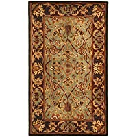 Safavieh Heritage Collection HG794A Handcrafted Traditional Oriental Light Blue and Red Wool Area Rug (3 x 5)