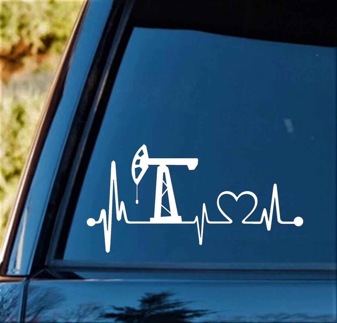 Bluegrass Decals K1015 Oilfield Heartbeat Love Lifeline Monitor Decal Sticker