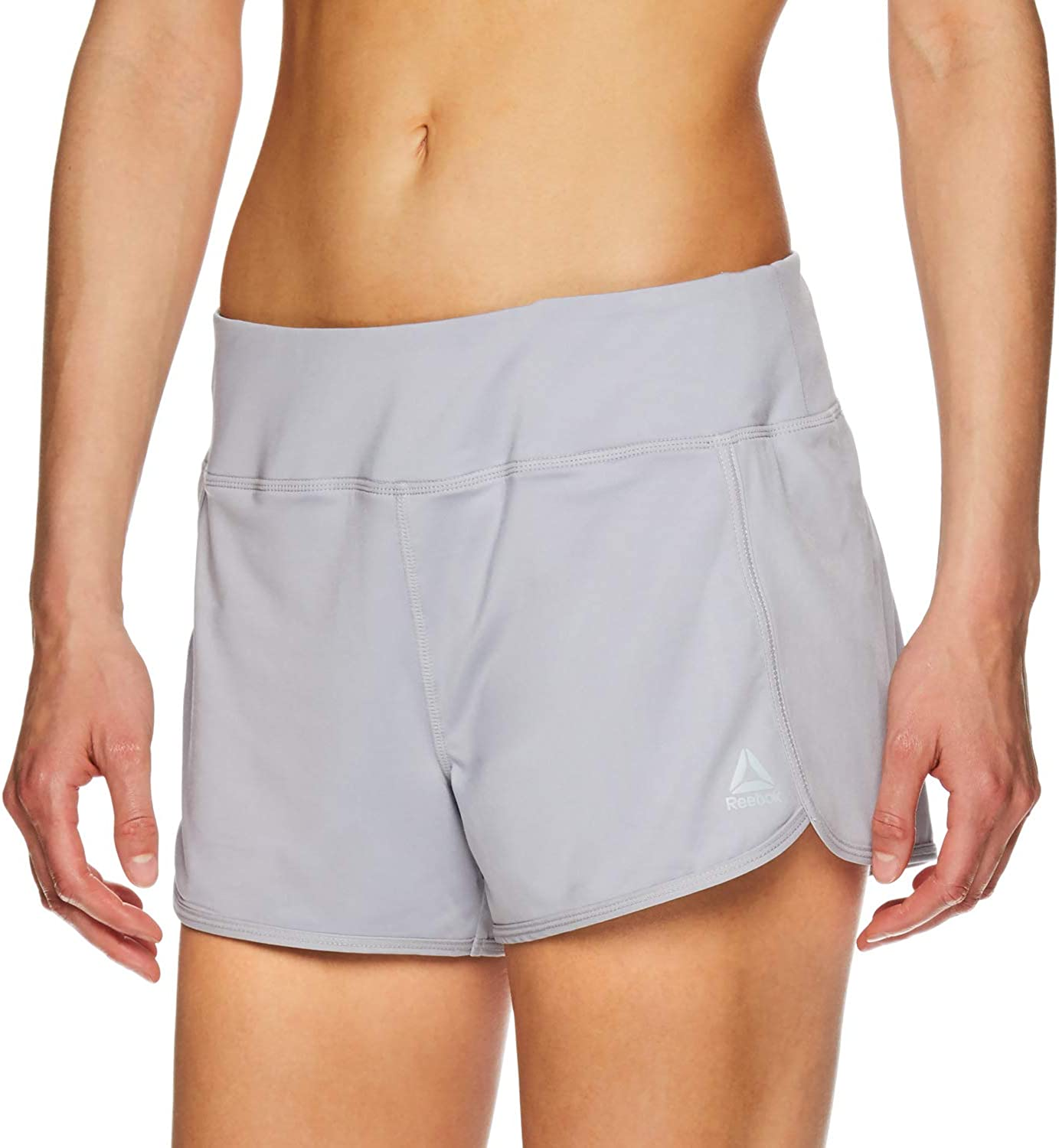 3 1//4 Inch Inseam Relaxed Fit and Mid-Rise Waist Training Shorts w// Liner Reebok Womens Running Shorts