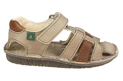 391bebc192be El Naturalista boy s Kiri ankle strap sandals Beige Size  13 UK ...