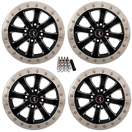 (Raceline Mamba Beadlock ATV Wheels/Rims Machined 14