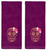 Sugar Skull Towel Sets (2, Purple)