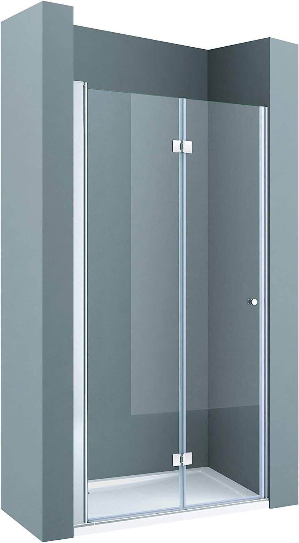 BxH: 90 x 190 cm nichos Puerta/técnicos ravenna26 Puerta plegable, de cristal de seguridad monocapa Cristal Transparente, Puerta plegable para técnicos, mampara, incluye Nano en ambos lados de recubrimiento: Amazon.es: Bricolaje y