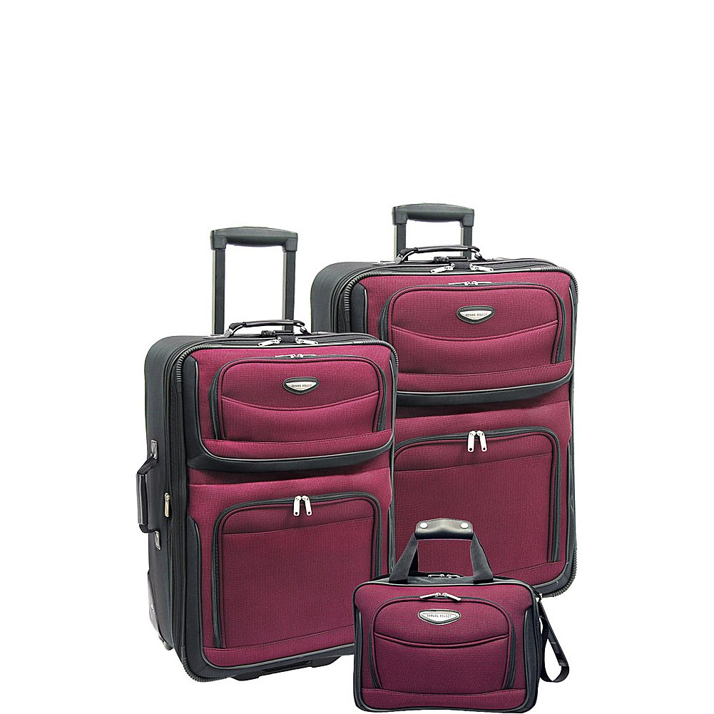 Traveler's Choice Amsterdam 3-Piece Travel Collection (Burgundy)