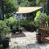 Frilivin Toldo rectangular de protección solar jardín Protección UV Premium sombra toldos Toalla Beige