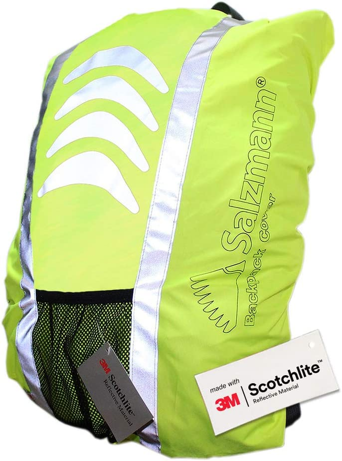 Salzmann 3M Reflective Backpack Cover High Visibility, Waterproof Weatherproof Ideal for Cycling, Running, Hiking More