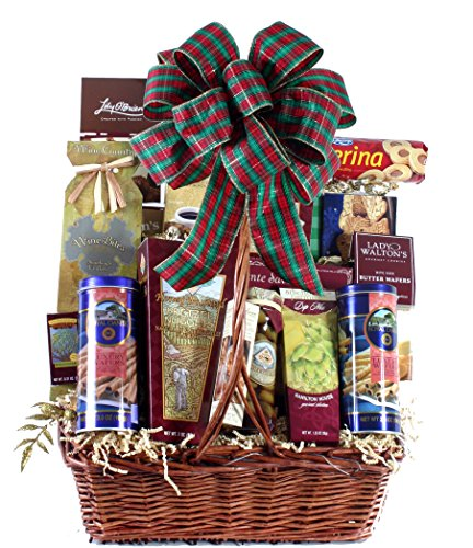 Plaza Flowers - Favorite Edibles Gourmet Food Basket - Premium