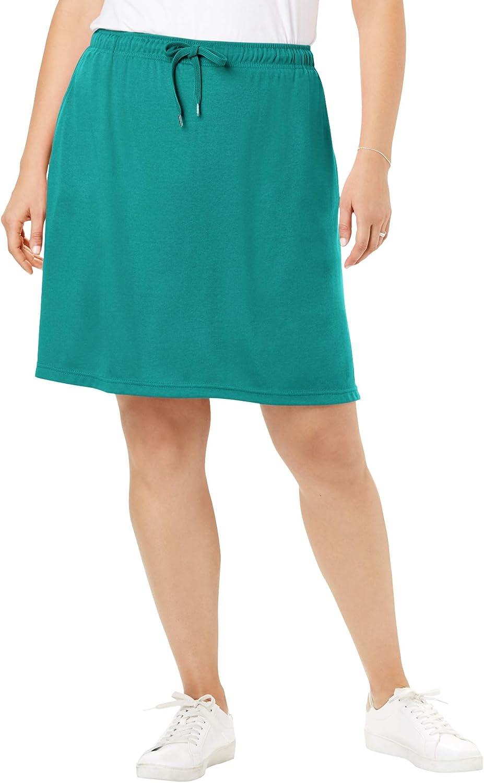 Woman Within Womens Plus Size Sport Knit Skort