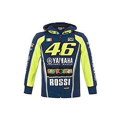 09951170a80 Sweat enfant Valentino Rossi VR46 M1 Yamaha Factory Racing Team Moto GP  officiel - Taille 11