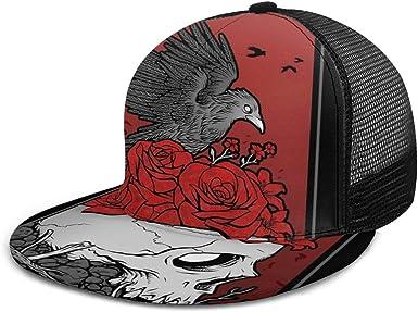 Gorra de béisbol con diseño de pájaro y Rosas, Unisex, 3D, Hip Hop ...
