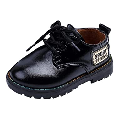 d3d422a1ee744c Toddler Little Big Baby Boy Girl Kids Oxford Dress Shoes Lace Up Ankle  Boots (US