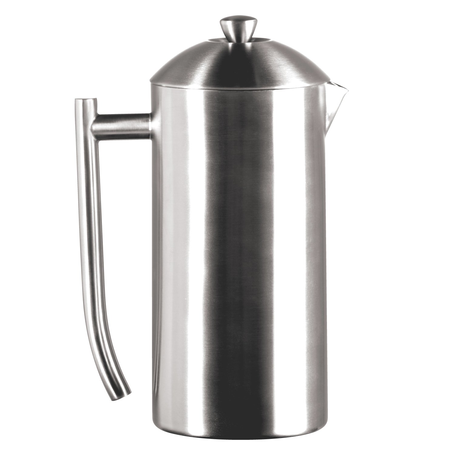 Frieling USA Double Wall Stainless Steel French Press Coffee Maker with Zero Sediment Dual Screen, Brushed, 36-Ounce