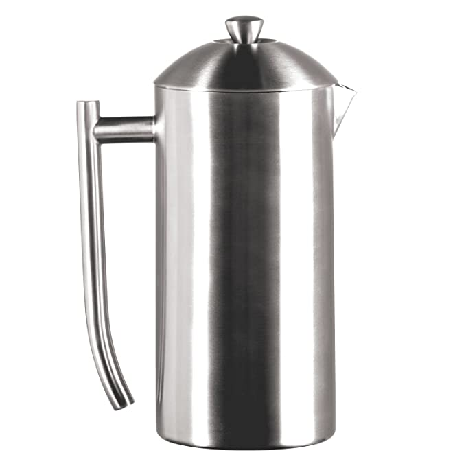 Frieling Brushed Stainless Steel French Press, 36-Ounce Drip Coffee Machines at amazon