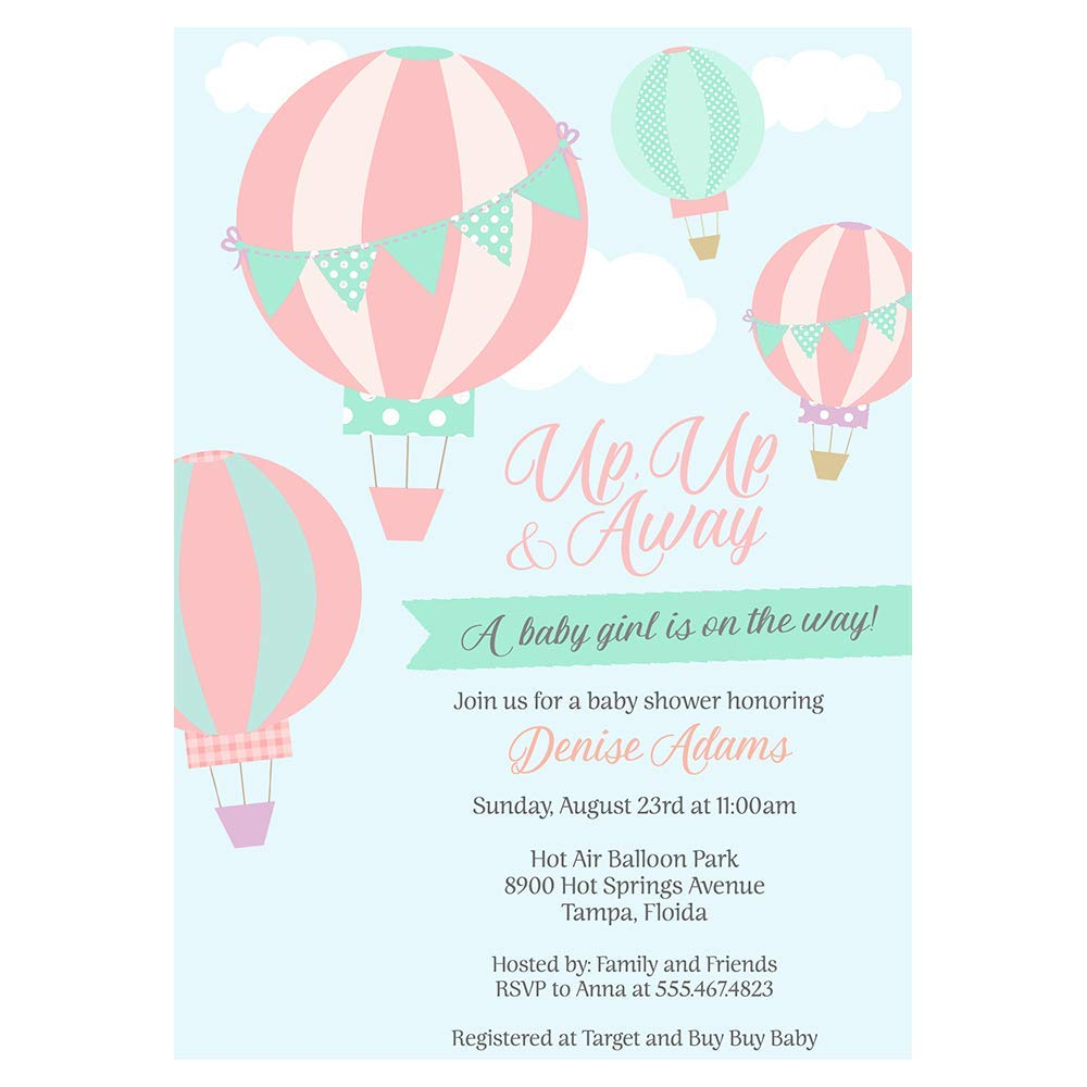 Hot Air Balloon Happy Birthday Banner POP parties by Gwynn Wasson Designs