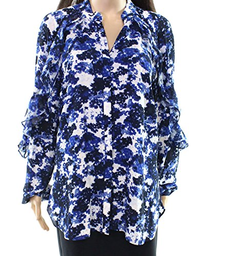 Lauren Ralph Lauren Women's Floral-Print Georgette Shirt Multi Small - Blue Floral Georgette